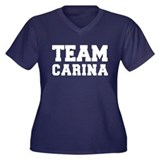 TEAM CARINA Women's Plus Size V-Neck Dark T-Shirt
