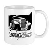 Spanky's Rod &amp; Custom Garage - B&amp;W Mug