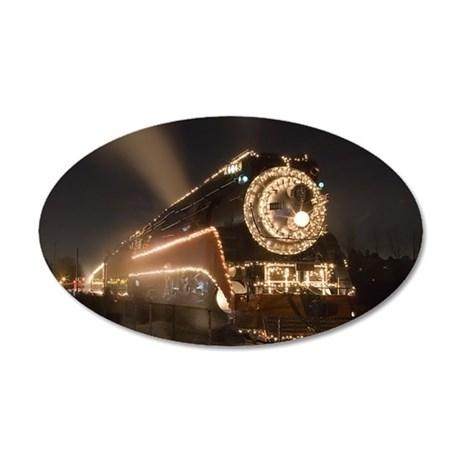 Holiday Train 1.65.jpg 35x21 Oval Wall Decal