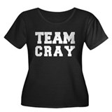 TEAM CRAY Women's Plus Size Scoop Neck Dark T-Shir