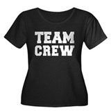 TEAM CREW Women's Plus Size Scoop Neck Dark T-Shir
