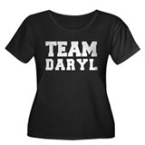 TEAM DARYL Women's Plus Size Scoop Neck Dark T-Shi