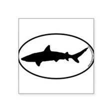 Shark SILHOUETTE Oval Sticker