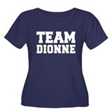 TEAM DIONNE Women's Plus Size Scoop Neck Dark T-Sh