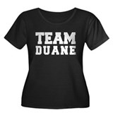 TEAM DUANE Women's Plus Size Scoop Neck Dark T-Shi