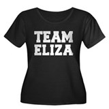 TEAM ELIZA Women's Plus Size Scoop Neck Dark T-Shi