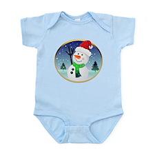 Snowman Santa Infant Bodysuit