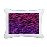 Bright Furry Zebra Print Rectangular Canvas Pillow