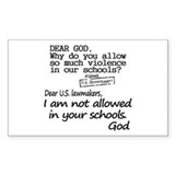 Dear God Bumper Stickers