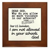 Dear God Framed Tile