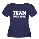 TEAM GUILLERMO Women's Plus Size Scoop Neck Dark T