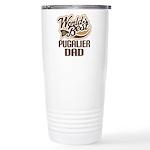 Pugalier Dog Dad Ceramic Travel Mug