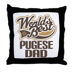 Pugese Dog Dad Throw Pillow