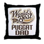 Puggat Dog Dad Throw Pillow