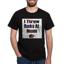 I Throw Rocks At Houses Ash Grey T-Shirt T-Shirt