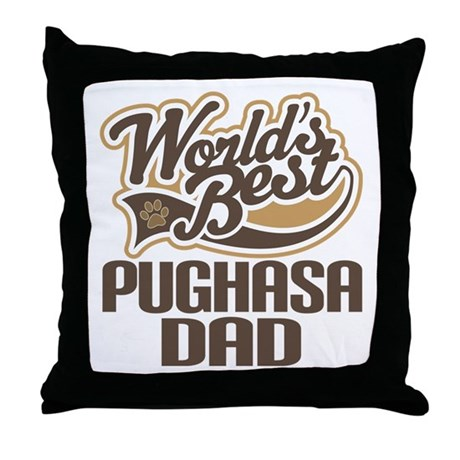 Pughasa Dog Dad Throw Pillow