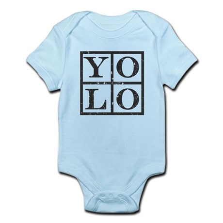 Yolo Distressed Infant Bodysuit