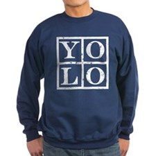 Yolo White Sweatshirt