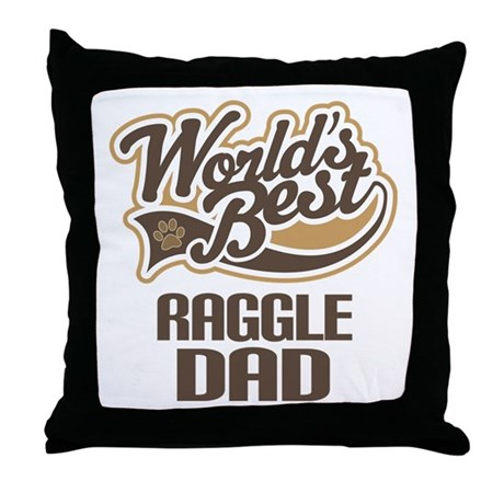 Raggle Dog Dad Throw Pillow