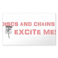 Discs and Chains Excite Me Decal