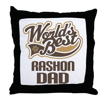 Rashon Dog Dad Throw Pillow