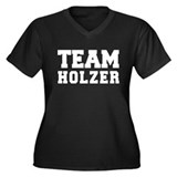 TEAM HOLZER Women's Plus Size V-Neck Dark T-Shirt