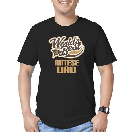 Ratese Dog Dad Men's Fitted T-Shirt (dark)