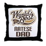 Ratese Dog Dad Throw Pillow