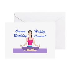 Yoga Birthday Card Greeting Card
