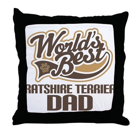 Ratshire Terrier Dog Dad Throw Pillow