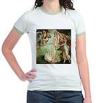 Birth of Venus Botticelli Jr. Ringer T-Shirt