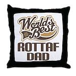 Rottaf Dog Dad Throw Pillow