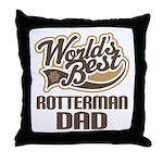Rotterman Dog Dad Throw Pillow