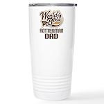 Rotterman Dog Dad Ceramic Travel Mug