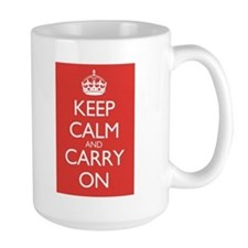 Cute Keep calm and carry on vintage Mug