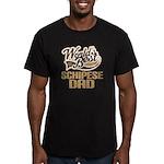 Schipese Dog Dad Men's Fitted T-Shirt (dark)