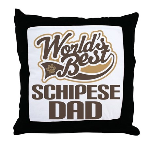 Schipese Dog Dad Throw Pillow