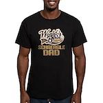 Schneagle Dog Dad Men's Fitted T-Shirt (dark)