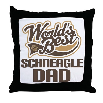 Schneagle Dog Dad Throw Pillow