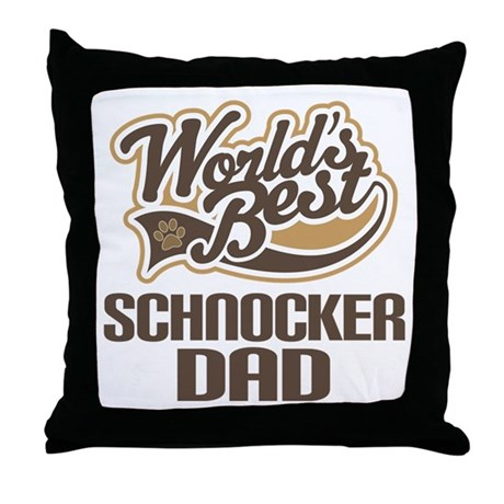 Schnocker Dog Dad Throw Pillow