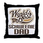 Schweenie Dog Dad Throw Pillow