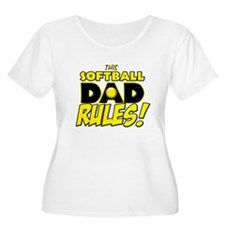 This Softball Dad Rules copy.png T-Shirt