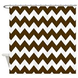 Tan chevron Shower Curtains