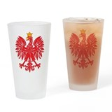 Cute  polish eagle Drinking Glass