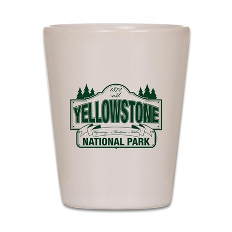 Green Yellowstone Shot Glass
