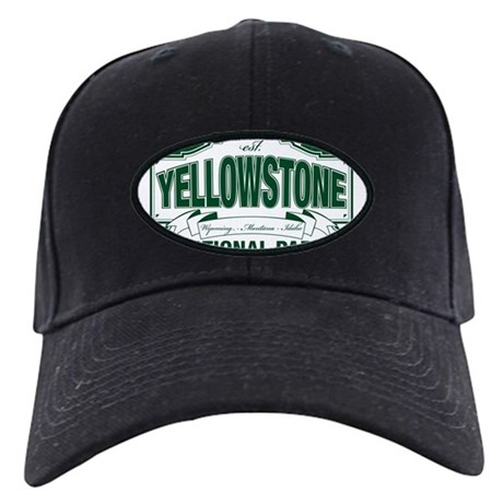 Yellowstone Green Design Black Cap