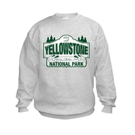 Yellowstone Green Design Kids Sweatshirt