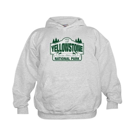 Yellowstone Green Design Kids Hoodie
