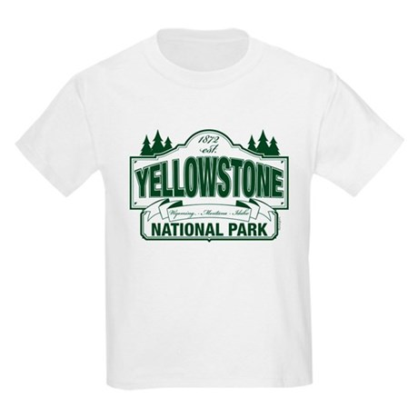 Yellowstone Green Design Kids Light T-Shirt