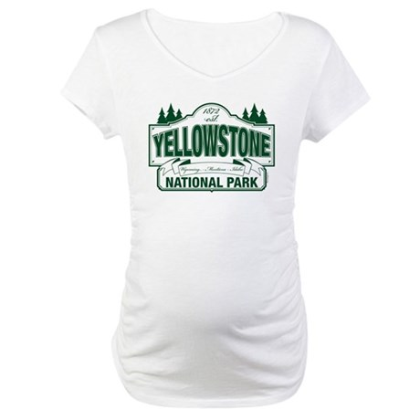 Yellowstone Green Sign Design Maternity T-Shirt